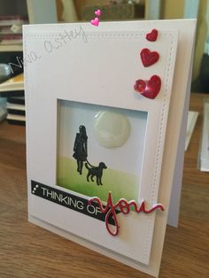 """I created this using Clarity stamps Wee Folk, distress inks and a Simon says stamp die for the """"you"""""""