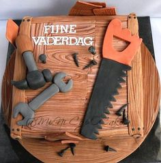 Tools Themed Father's Day Cake