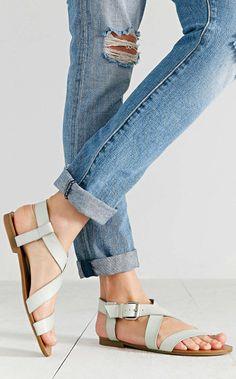 Mint strap sandals