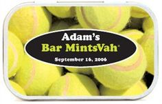 Tennis Theme Party Favors Mint Tins