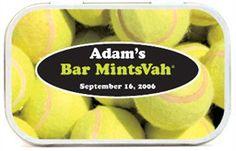 Tennis Theme Party Favors Mint Tins