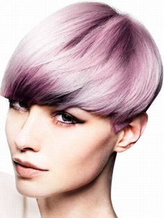 Such a strong colour idea but beautifully soft. Using pastel tones and stronger tones around the face to give depth and texture.