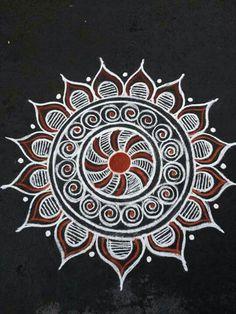 35 Best Mandala Rangoli designs to try - Wedandbeyond Indian Rangoli Designs, Rangoli Designs Latest, Rangoli Designs Flower, Colorful Rangoli Designs, Rangoli Patterns, Rangoli Ideas, Rangoli Designs Images, Latest Rangoli, Free Hand Rangoli Design