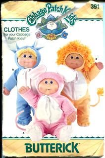 Butterick 391 Cabbage Patch Kids clothes sewing pattern