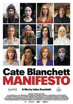 Manifesto: Cate Blanchett performs manifestos as a series of striking monologues.