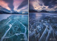 Abraham Lake à Alberta, Canada