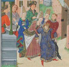 « La geste ou histore du noble roy Alixandre, roy de Macedonne, » traduite d'un « livre rimet,... intitulé l'Istore Alixandre, » par ordre de « Jchan de Bourgongne, conte d'Estampes » Date d'édition : 1401-1500 Français 9342 Folio 208v