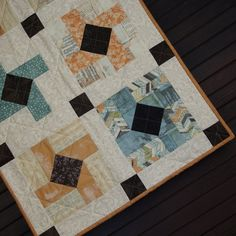 There is a download button to get the paper piecing instructions.  Love this fabric