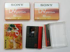 4 Stück Sony DVM-60 PR3 Mini-DV Videokassette (60min)