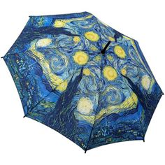 This Van Gogh Starry Night print folding umbrella from Galleria features automatic open and close. A large print folding umbrella. Umbrella Shop, Mini Umbrella, Compact Umbrella, Umbrella Art, Folding Umbrella, Under My Umbrella, Blue Umbrella, Vintage Umbrella, Monet