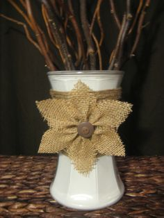 unique decorated vases with burlap - Google Search