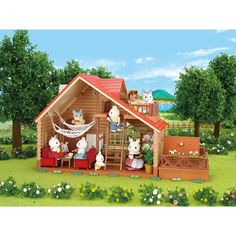Kids Favorite Little Calico Critters Animals Will Be Happy To Have The Lakeside Lodge As Their