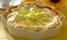 Our Lemon Tart topped with whipped cream, condensed milk, and crushed biscuits will satisfy your sweet and tart cravings. Baking Tips, Baking Recipes, Stork Recipes, Yummy Snacks, Yummy Food, Delicious Recipes, Kinds Of Desserts, Lemon Curd, Pastries