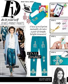 Jewel-Print Pants via @WhoWhatWear