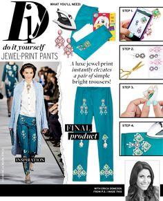 Jewel-Print Pants via @WhoWhatWear