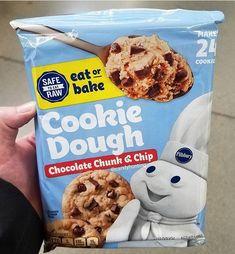 Pillsbury Cookie Dough, Heat Treating, Eating Raw, How To Make Cookies, No Bake Cookies, Chips, Rolls, Yummy Food, Chocolate