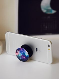 Pop Socket Phone Mount in Blue Nebula $10.00 by free people