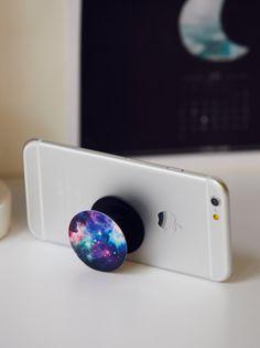 Pop Socket Phone Mount in Blue Nebula $10.00 by free people