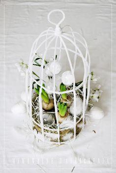 Klatka, Wiosna, Wielkanoc, Easter, Mimowolne Zauroczenia, Handmade,