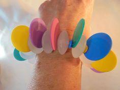 Vintage POP ART Stretch Bracelet/Bangle LUCITE/Early Plastic MOD 60's Space Age! #Unbranded #StatementStretch