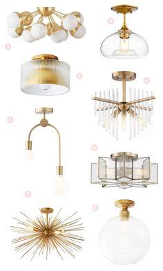Our favorite flush mounts #lighting #lightfixtures #flushmount