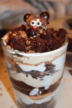 Groundhog Peanbutterfinger Trifle-- a combination of a few Pinterest ideas.