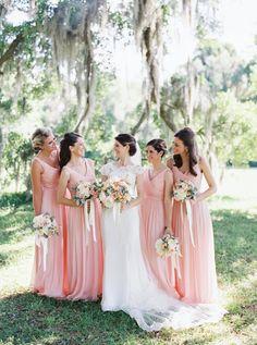 pink bridesmaid dresses   Cassidy Carson