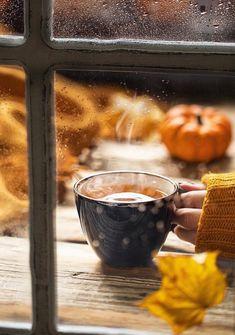 Autumn Delights of mine ~ Autumn Tea, Autumn Rain, Autumn Coffee, Autumn Cozy, Autumn Walks, Rain And Coffee, Coffee Love, Coffee Cups, Coffee Art
