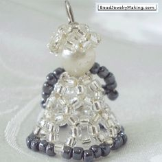 Beaded Jewelry Ideas   Seed Bead Angel - Bead Jewelry Making - Christmas Special