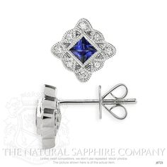 0.94ct Blue Sapphire Earring Image 2