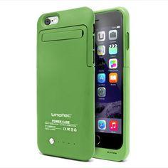 Funda Bateria Iphone6 Unotec Powercase Verde