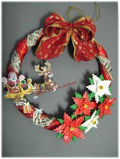 spazio alla mia fantasia: ghirlanda natalizia