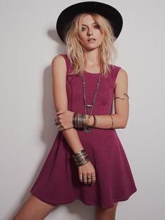 Free People Boom Boom Fit and Flare Dress, $98.00