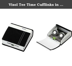 Visol Tee Time Cufflinks in Suede Gift Box. For all the golf lovers out there, this is the perfect pair of cufflinks for you! Set on polished stainless steel, the golf themed pair of cufflinks features a white golf ball accented with black borders giving it a distinctive appearance. The words Let's Golf are set right below the white textured golf ball. The cufflinks come in a cool black and white golf concept gift box as shown in the picture. If you are big golf fan or have a friend who…