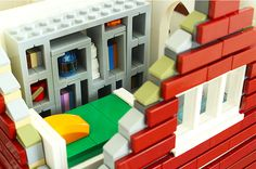 Bedroom   par LEGObrickbuilder Lego Candy, Awesome Lego, Cool Lego Creations, Lego Stuff, Lego Ideas, Legos, Stairs, Bedroom, Mini