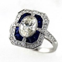 Art Deco Style Diamond  If this were amethyst, I would be in LOVE!
