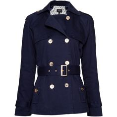 MANGO Double breasted trench ($80) ❤ liked on Polyvore featuring outerwear, coats, jackets, tops, coats & jackets, double breasted coat, double-breasted trench coat, blue trench coat, trench coat and mango coats