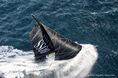 Alex Thomson (GBR), skipper Hugo Boss Sailing aerial images of the IMOCA boat Hugo Boss, skipper Alex Thomson (GBR), during training solo for the Vendee Globe 2016, off England, on September 16, 2016 - Photo Cleo Barnham / Hugo Boss / Vendée GlobeImages aériennes de Hugo Boss, skipper Alex