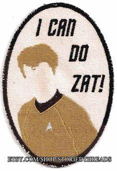 Star Trek Minimalist Chekov Patch by StoriedThreads on Etsy, $9.00