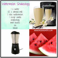 Watermelon Vanilla Shakeology Recipe #Shakeology #Recipe #Watermelon