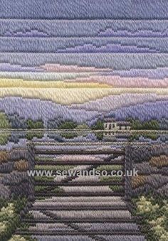 Buy Spring Evening Long Stitch Kit Online at www.sewandso.co.uk