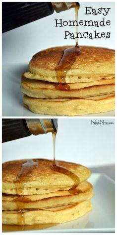 Easy Homemade Pancakes | DelishDlites.com