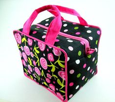 Boxy Cosmetic Bag Sewing Pattern PDF Tutorial #ad