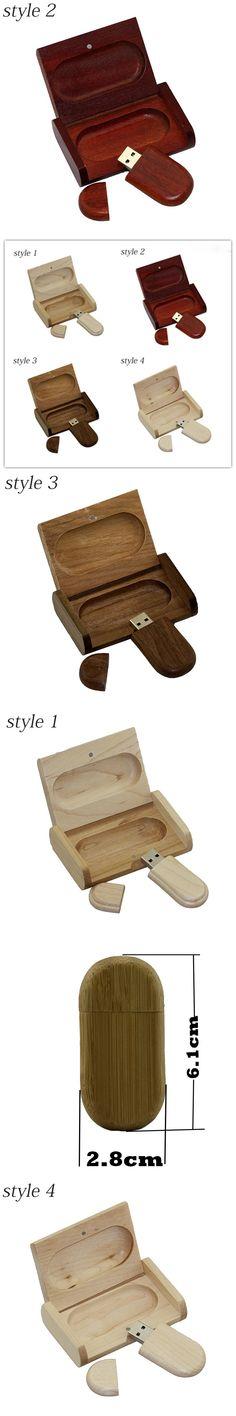 Wooden personality creative gift customized wood with box USB flash drive u disk USB2.0 flash drive 4G 8GB 16GB 32GB 64GB