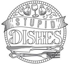 Spice It Up - Stupid Dishes | Urban Threads: Unique and Awesome Embroidery Designs