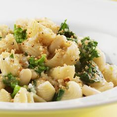 Recipe idea for lunch (low calorie) : Orecchiette with Broccoli Rabe & Chickpeas       http://www...