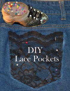 DIY Lace Pocket Tutorial