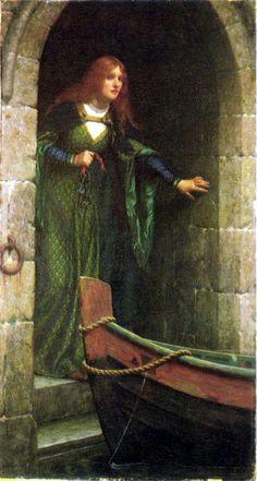 """The Keys"" by Edmund Blair Leighton, via The Kissed Mouth: Better Leighton Than Never Charles Edward, Pre Raphaelite Paintings, The Lady Of Shalott, Dante Gabriel Rossetti, Art Gallery, Victorian Art, Beautiful Paintings, Art History, Fantasy Art"