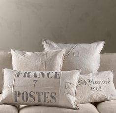 Restoration Hardware Tarp Pillows