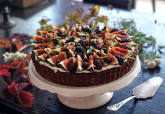 Fíkovo-ostružinový podzimní koláč | Veganotic
